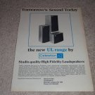 Celestion UL Range Ad, 1975, Article comparing Ditton