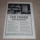 Fisher 50 Horn Speaker AD, Tube Amps,Preeamps,Tuners