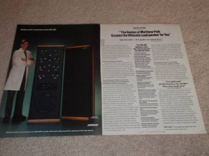 Polk SDA SRS Speaker Ad, 2 pgs, Article, Beautiful! '86