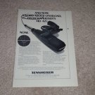 "Sennheiser MD 421 Microphone Ad, 1978, 6""x9"", Article"