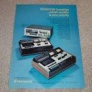 Kenwood KX-910,KX-710,kx-620 Cassette Ad, 1973, Article