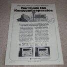 Kenwood KA-8006,6006 Amplifier,KT-8007,6007 Tun Ad 1974