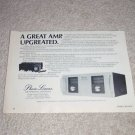 """Phase Linear 400 Series II Amplifier AD, 6""""x9"""""""