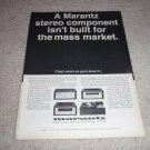 Marantz 7t,SLT-12u,15, 10b Ad from 1968, very nice!