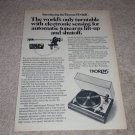 Thorens TD-145C Turntable Ad,1975, Article, Electronic