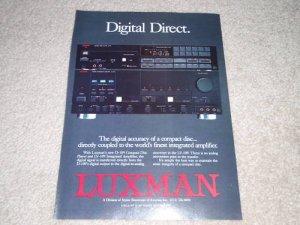 Luxman D109 CD, LV-109 Amp Ad, Article, Nice Ad!