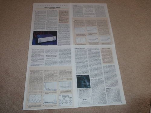 Classe CA-100 Amplifier Review,1997, 4 pgs, Full Test