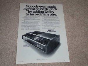 Harman Kardon CAD 5 Cassette Ad, 1972, Specs, Article