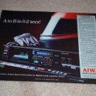 Aiwa AD-R550 Cassette Ad, 1984, Article, Rare Deck Ad!