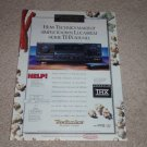 Technics THX SA-TX1000 Receiver Ad, 1995,Article,Rare!