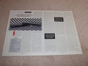 Panamax Max 1000 Line COnditioner Review,2 pgs, 1993