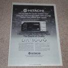 Hitachi DA-1000 CD Player Ad, 1983, Article,1st one!