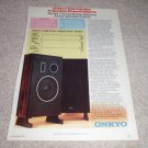 Onkyo F-5000 SPeaker Ad from 1979, article, specs!