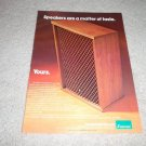 Sansui Speaker AD from 1974, color, Beautiful!