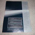 California Audio Labs Tercet III,Aria mk III, Icon Ad