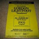 MFSL Gordon Lightfoot Sundown LP AD from 1979