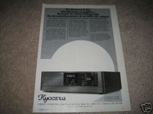 Kyocera R-851 Receiver Ad,from 1982,RARE!