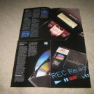 SONY MD Ad from 1992, All MD units Brochure 8 pages