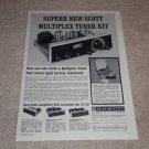 Scott LT-110 Tube Tuner Kit Ad,1962,Amps, Specs,Article