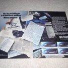 Denon Cd Player AD fr 1987, DCD-1500,1300,700,500 2 pgs