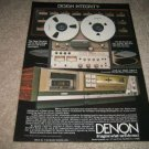 Denon Ad from 1982,DH-510 Open Reel,DR-F7 Cass