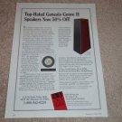 Genesis Genre II Speaker Ad, 1994, Article, Specs, RARE