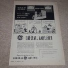 GE Uni-Level Tube Amplifier Ad,1955,Rare Ad,Article