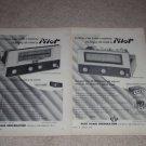 Pilot AF-724,850 Pre/Tuner Ads,1955, Tube,Specs,Article