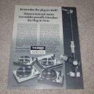 Thorens TD-126c,145c,166c,160c Turntable Ad, 1977,info