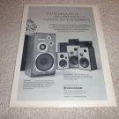 Kenwood Model 7, ls-403,406,405 Speaker Ad from 1975