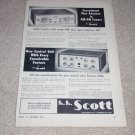 Scott 330 Tuner Ad, 121-B Preamp, Specs,Article, 1955