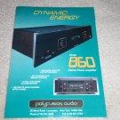 Polyfusion Audio 860 Amplifier Ad, Beautiful! 1995