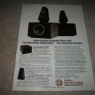 RTR Rhombus Subwoofer/Sat System Ad from 1979