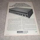 Harman Kardon Nocturne 820 Receiver Ad from 1970,RARE!