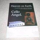 Cello Ad from 1995, Angel System, Serafin,Encore Pre