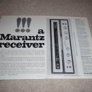 Marantz Model 18 Ad,1967,Specs,Article,Rare Ad,2 pgs