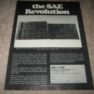 SAE EQ Ad from 1978, very nice ad! RARE one!