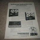 TANDBERG Ad from1973,TCD-300,9000x,3300x
