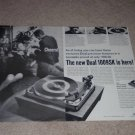 Dual 1009sk Turntable Ad, 1966, 2 pgs, Article, Specs