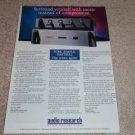 Audio Research SDP1 Preamp Ad, SDA1 Amp Ad, 1996, RARE!