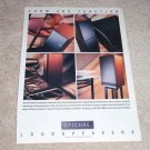 Epicure Speaker Ad from 1988, Rare! Article