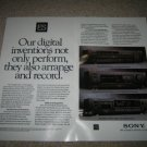 Sony ES Ad from 1990,CD,Pre-Amp,DAT