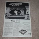 Dual 1019 twin-tonearm Turntable Ad, 1966,Article, RARE