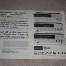 Lafayette Ad, 1969, LR-1500t,1000t,500t, Articles,2 pg