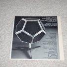 """Design Acoustics D-12 Speaker Ad,1973,5""""x5"""" RARE! Specs"""