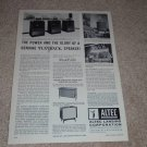 Altec Voice of the Theater Ad, 1964,838a,831a, Article