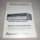 Sansui 2000a Receiver Ad from 1970