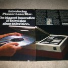 Pioneer Laserdisc Player Ad from 1981,1st player!