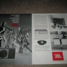 JBL Caprice,Sovereign Speaker Ad from 1968, 2pages!RARE