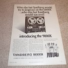 Tandberg 9000x Open Reel Deck Ad from 1973,RARE!